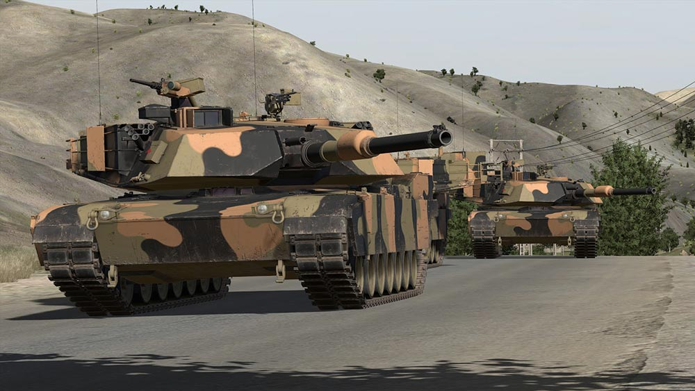 Australian M1A1 Main Battle Tanks shown here in the VBS virtual environment.