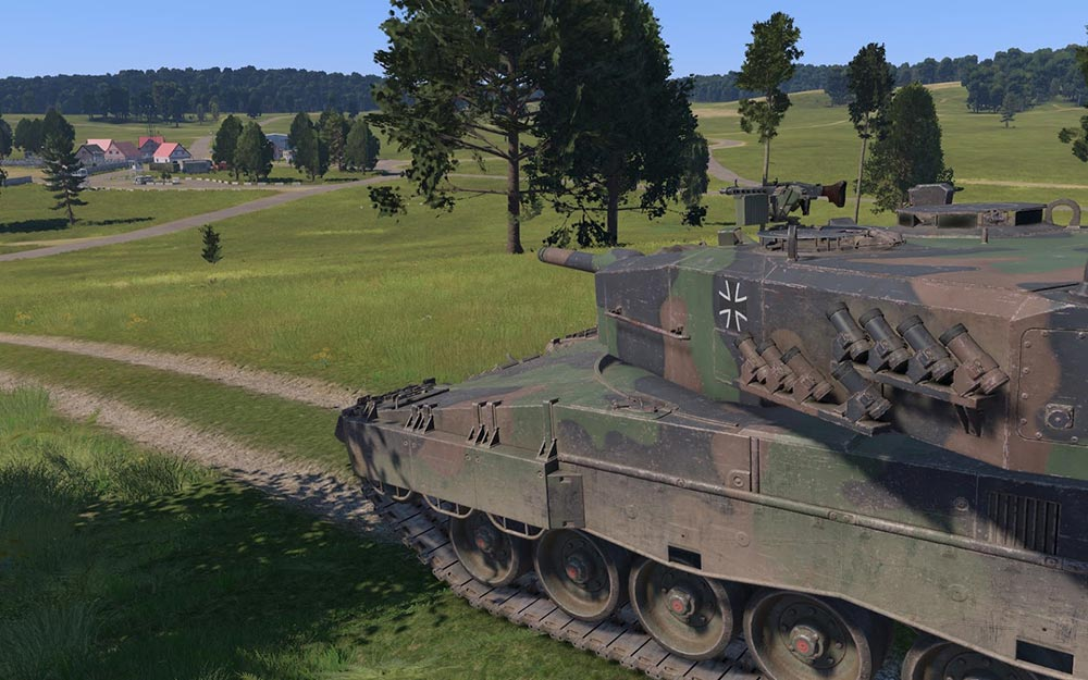 A Leopard tank in VBS4: Run up unlimited virtual track miles in VBS4.